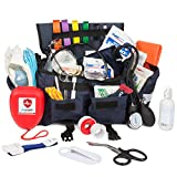 Eco Medix Emergency First Responder - Trauma Kit - Fully Stocked with Medical Supplies