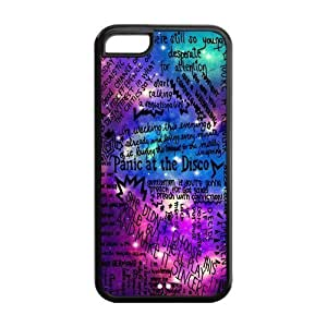 Panic! at the Disco Hard Coated Phone Cover Case for iPhone 5C Designed by Windy City Accessories hjbrhga1544