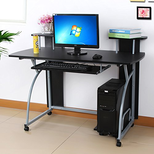 Songmics Bureau Informatique Table Informatique Meuble De Bureau