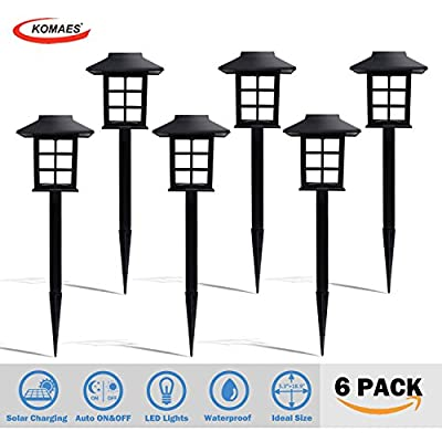 Solar Lights Outdoor, Path Light,Komaes Waterproof Outdoor Garden Lights, Solar Landscape Led Light With Lighting Dark Sensing Auto On/Off Perfect For Lawn/Patio/Yard/Pathway/Walkway