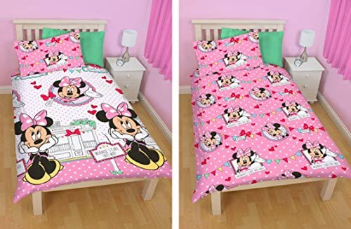 Copripiumino Matrimoniale Walt Disney.Ufficiale Disney World Minnie Mouse Set Copripiumino Singolo