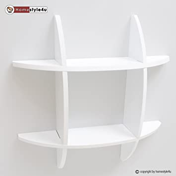 Homestyle4u Wandregal Cube Wandboard Retro Regal Bücherregal weiß ...
