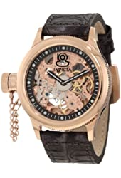 Invicta Men's 10365 Russian Diver Lefty Mechanical Gold Tone Skeleton Dial Watch