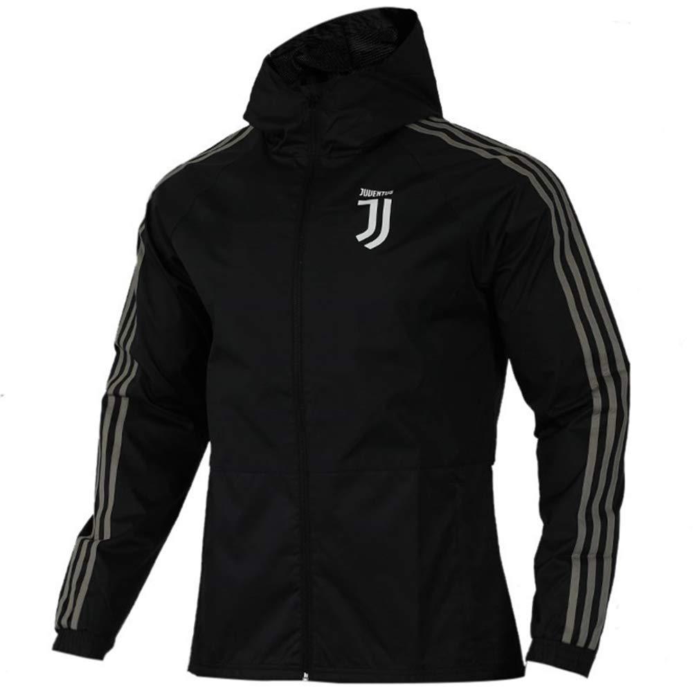 LDKSX Juventus Erwachsenen Fußballspiel Training Team Wear Laufbekleidung Trikot Anzug Herbst Winter Junge Student Reißverschluss Sweatshirt Top Größe S-XXL