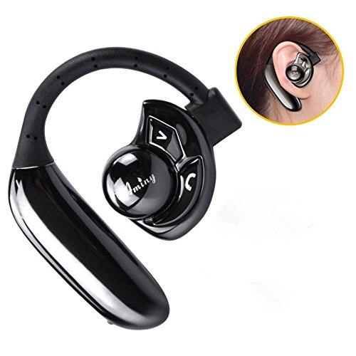 Bluetooth 헤드폰 고음질 무선 헤드폰 무선 모노 블루투스 헤드셋 스포츠 방지 땀 방적 마이크 내장 귀에 걸고 이어폰 이어 후크 iPhone Android 대응