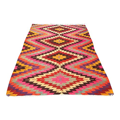 Vintage Turkish Kilim Rug - 6′2″ × 8′9″