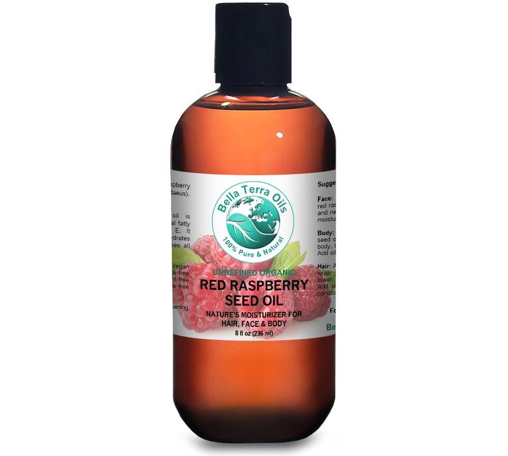 Red Raspberry Seed Oil 8 oz 100% Pure Cold-pressed Unrefined Organic - Bella Terra Oils