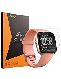 [4 PCS] Fitbit Versa Screen Protector,PEYOU [Premium Tempered Glass] [High Quality 9H] Screen Protector Perfect for Fitbit Versa Smartwatch 2018