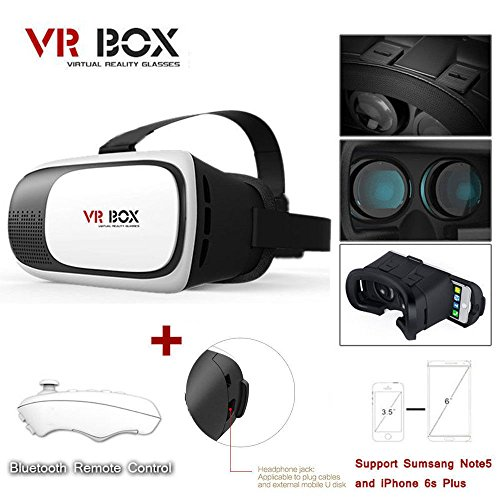 New Google Cardboard 2nd Gen VR BOX Virtual Reality 3D Glasses Bluetooth Control