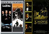 The Godfather 3-movie Collection & Goodfellas + Untouchables Mob Crime Trilogy Movie Set