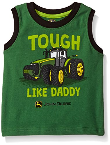 John Deere Baby Toddler Boys' Graphic Tee, Green/Black, 4T