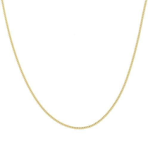 Gold Kette Halskette Goldkette Damen Herren Panzerkette Gelbgold Echt Vergoldet