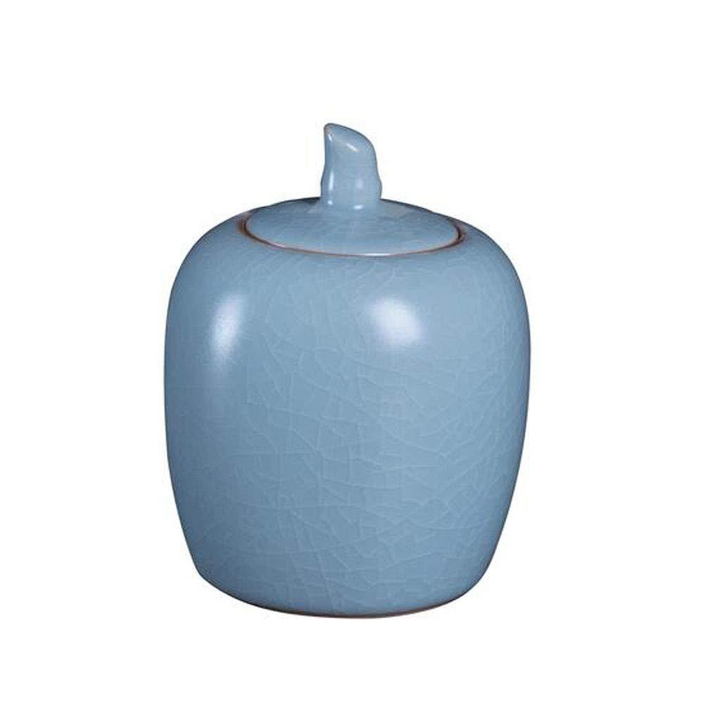 bluee Hongyushanghang Pet Casket, Close Relatives and Dear Pet Crematorium, Elite Souvenirs 3.2 Inches in Diameter (Ceramic Kiln bluee) Bright (color   bluee)