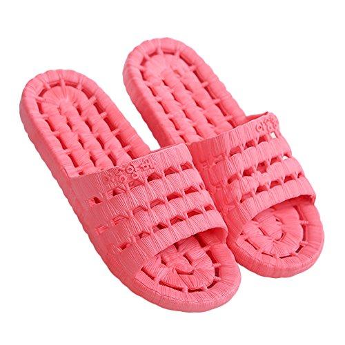 Pantoufles De Bain Anti-dérapant Unisexe Intérieur Et Extérieur Chaussures Été Maison Pantoufle Pastèque-rouge