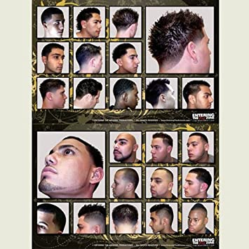 Awe Inspiring Amazon Com Haircut Poster Set Beauty Hairstyles For Men Maxibearus