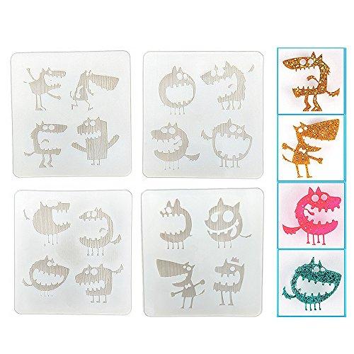 resin shell earrings - 4
