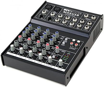 Invotone MIXR0135 - Mesa de mezclas de 6 canales USB