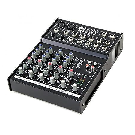 Invotone MIXR0135 - Mesa de mezclas de 6 canales USB: Amazon.es ...