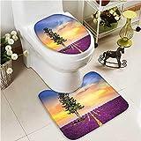 VROSELV Lid Toilet Cover Pura Ulun Danu Temple Bali Indonesia Asian River R Cushion Non-slip