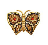 ''Butterfly'' Hand-Enameled Pin/Brooch by Heritage Museum Jewelry Replicas…