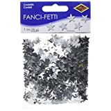 Beistle 50621-S Fanci-Fetti Stars Party Decorations, Silver