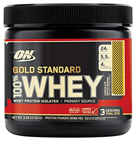 Optimum Nutrition Gold Standard 100% Whey Protein Powder, Chocolate Dipped Banana, 3 Count - Gold Standard Chocolate