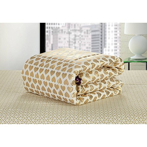 Idea Nouva Gold Hearts Bed in A Bag Queen ()