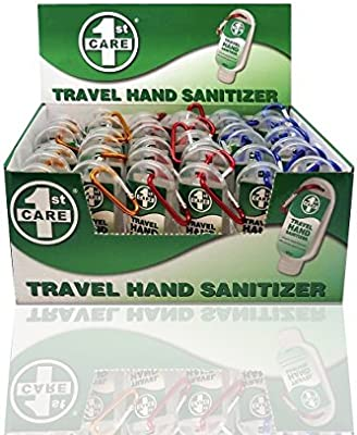 Travel Hand Sanitizer Set Of 72 Anti Bacterial Hand Sanitiser Gel