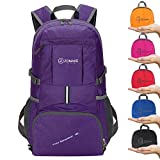ZOMAKE Ultra Lightweight Hiking Backpack, 35L Foldable Water Resistant Travel Daypack Packable Backpack for Outdoor Camping(Purple) Review