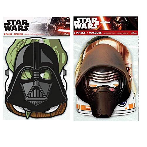 Star Wars Birthday Party Supplies (Star Wars Birthday Party Masks in 2 Styles, 16 total Party Favor)