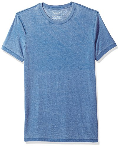 Burnout Crew Neck Tee - Lucky Brand Men's Venice Burnout Crew Neck Tee, Monaco Blue, S