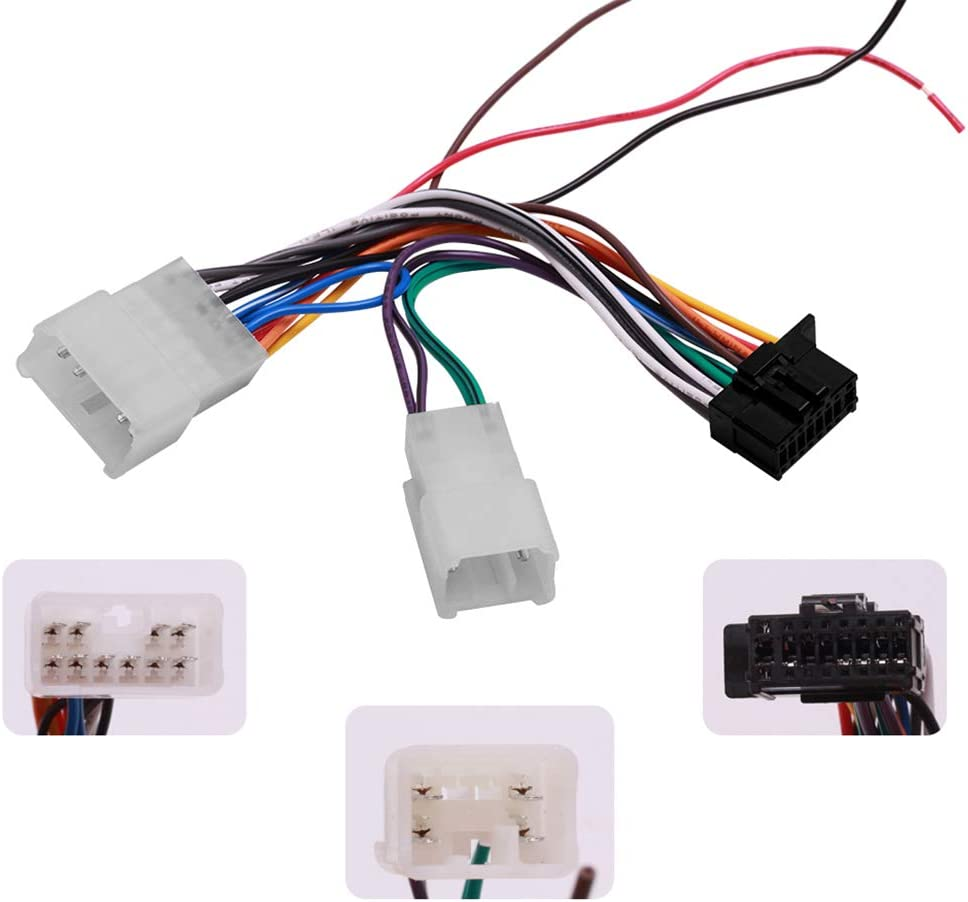 Radio Wiring Harness Pioneer Headunits Compatible with Toyota and Subaru | Fits for All Non-JBL Toyota and Scion Models 1987-17(Does not Fits for JBL Cars) | Fits for 2016-19 Subaru Models (All BRZs)