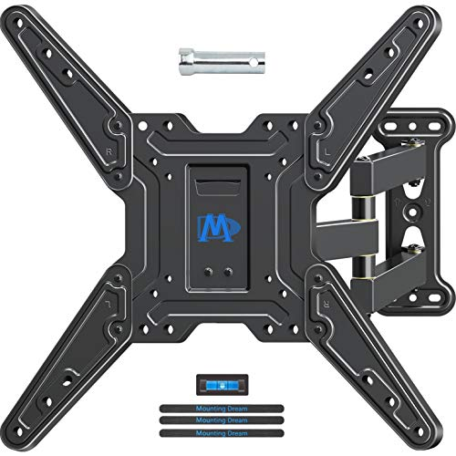 Mounting Dream Full Motion TV Wall Mounts Bracket with Perfect Center Design for 26-55 Inch LED, LCD, OLED Flat Screen TV, TV Mount with Swivel Articulating Arm, up to VESA 400x400mm MD2413-MX ()