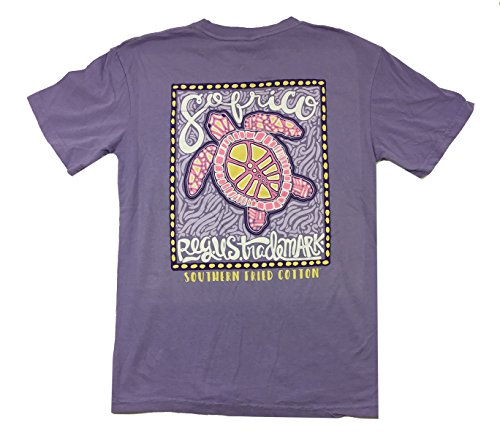 Preppy Sand Print (Southern Fried Cotton Loggerhead Luau Short Sleeve T-shirt-violet sugar-medium)