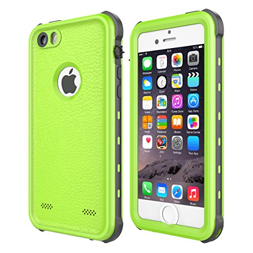 iPhone 5 5S SE Case Waterproof, iThrough ã€NEWã€'iPhone 5 5S SE Underwater Case/2M, Shockproof Dirtproof Snowproof Rain Proof, Heavy Duty Full Protection Phone Case Cover for iPhone 5 5S SE (Green)