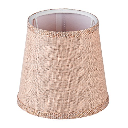 Cleeacc Lampshade Lamp Cover Decorative Handmade Modern E14 Screw Lampshade Buu American Pastoral Style Luxury Crystal Candle Glass E14 Adapter Lamp Shade Cloth Design 3 by Cleeacc (Image #6)