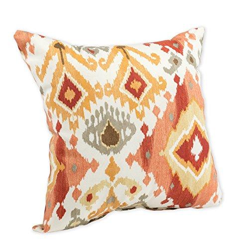 - La Vezzi Paprika Ikat Burnt Orange and Red 16 x 16 Indoor Outdoor Throw Pillow