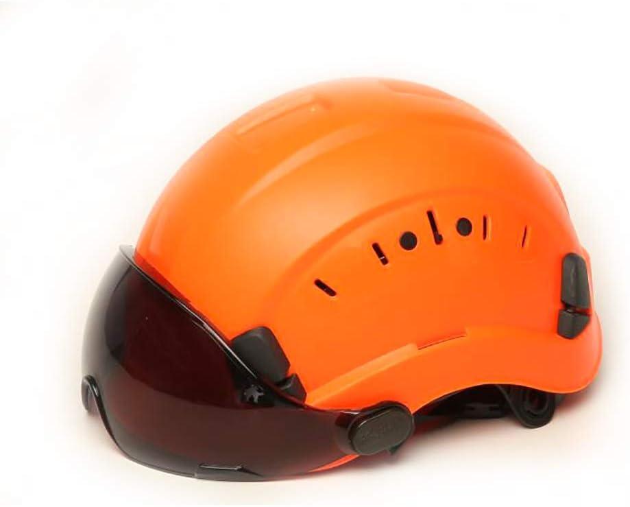 GJX-Casco de seguridad ABS Cascos de seguridad, Gorro de protección for trabajadores de construcción, Cascos de trabajo,Casco de seguridad de ventilación, Cascos de protección en div. Casco de gafas