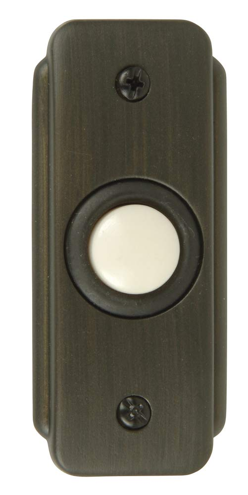 Craftmade BR2-BZ Stepped Rectangle Lighted Push Button, Bronze