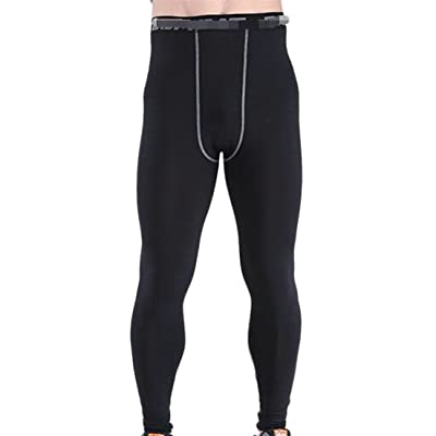CMC Mens Gym Basketball Lightweight Training Quick Dry Compression Pants