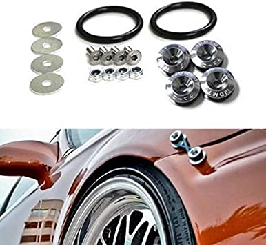 Aluminum Quick Release Fasteners Car Fender Bumper Trunk Hatch Fixed Kit USA