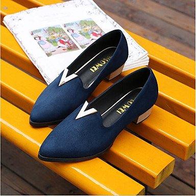 LvYuan-GGX Damen High Heels Komfort PU Frühling Frühling Frühling Lässig Schwarz Rot Blau Flach Blau us6.5-7   eu37   uk4.5-5   cn37 cb893c