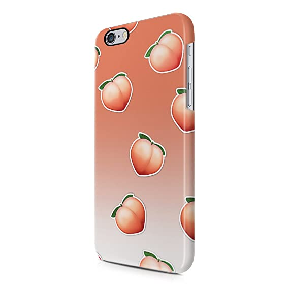 sports shoes 4ff65 5b528 Amazon.com: Peach Emoji Pattern Apple iPhone 6, iPhone 6s Plastic ...