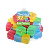 reusable ice cubes - Thornton's Reusable Plastic Ice Cubes, Assorted Colors (32 Cubes)