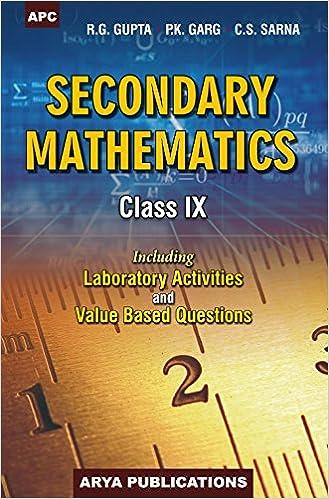 solution of pk garg of maths class ix