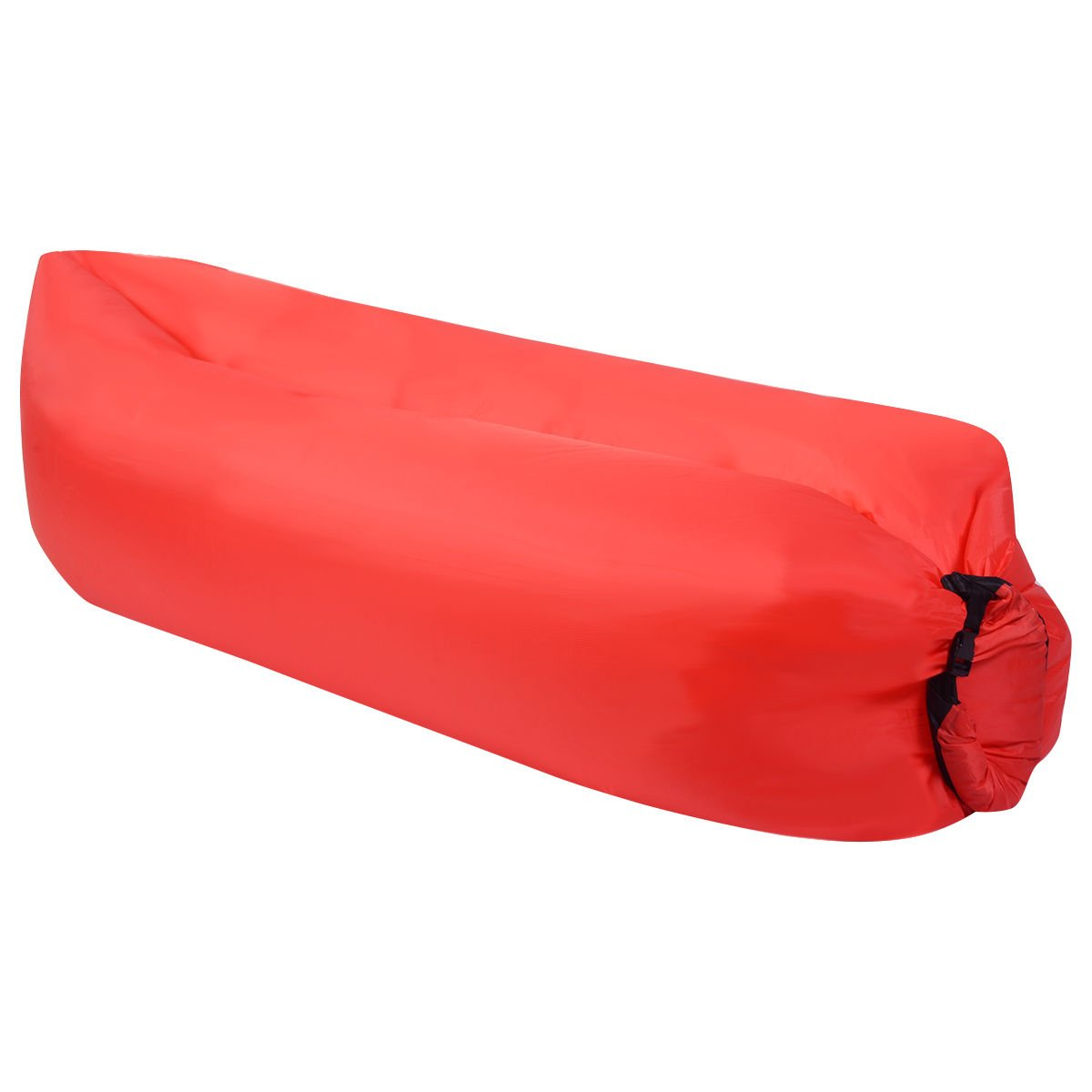 Eight24hours Outdoor Lazy Inflatable Couch Air Sleeping Sofa Lounger Bag Camping Bed Portable - Red + FREE E - Book