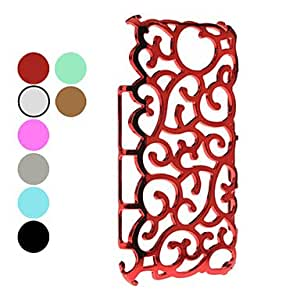 AES - Novelty Flower Rattan Design Hard Case for Samsung Galaxy Note 2 N7100 (Assorted Colors) , Purple