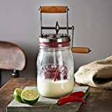 Kilner Vintage Glass Butter Churn; Delicious Homemade Butter in as Little as Ten Minutes; Large 34-Fluid Ounce Capacity; Recipes Included