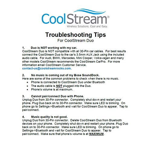 Coolstream Bluetooth Adapter For Audi And Volkswagen Ipod: CoolStream Duo Bluetooth Adapter For IPhone IPod Bose
