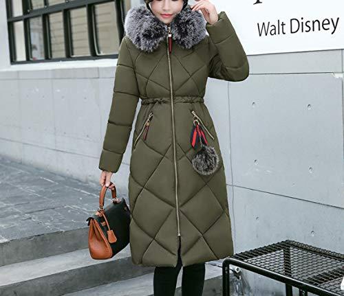 femme manteau en américaine Vêtements duvet verte coton d'hiver veste Vêtements pour en coton et long 2018 européenne en wZqxpv0